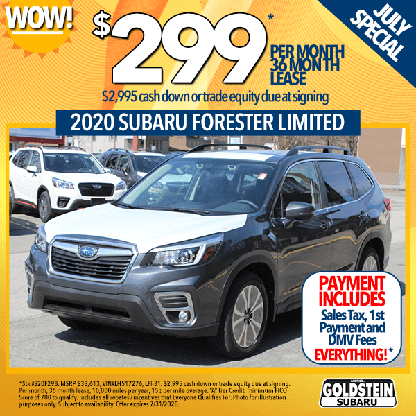 2020 Subaru Forester Limited Goldstein Auto Group Specials Albany Ny